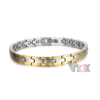 Здоровый магнитный браслеты нержавеющая сталь браслет для мужчины 7 мм широкий цепь ...