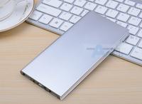 Silver Ultra-thin polymer power bank 20000mah,portable charger external battery 20000mah power bank