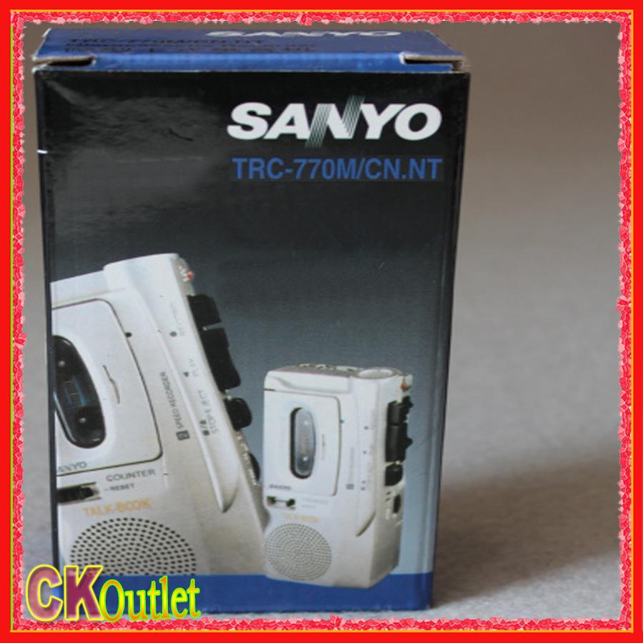 2016 NEW Sanyo TRC-770M Professional Mini Cassette Tape Recorder Player Machine with free gift(China (Mainland))