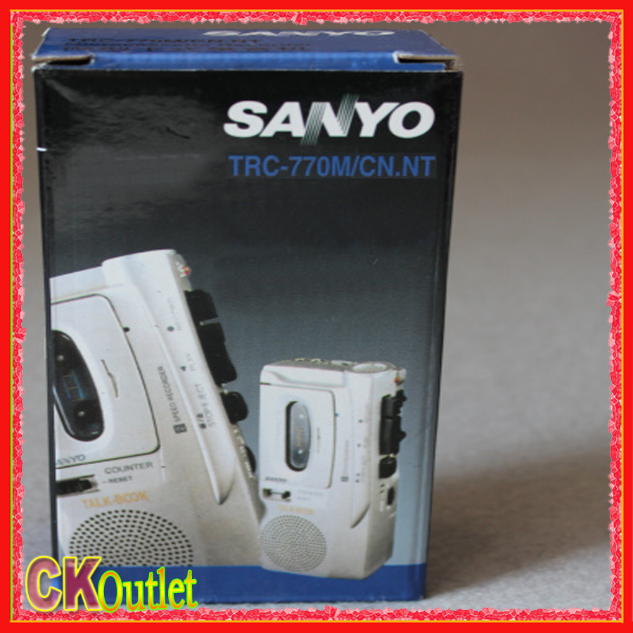 2016 NEW Sanyo TRC-770M Professional Mini Cassette Tape Recorder Player Machine with free gift(China (Mainland))