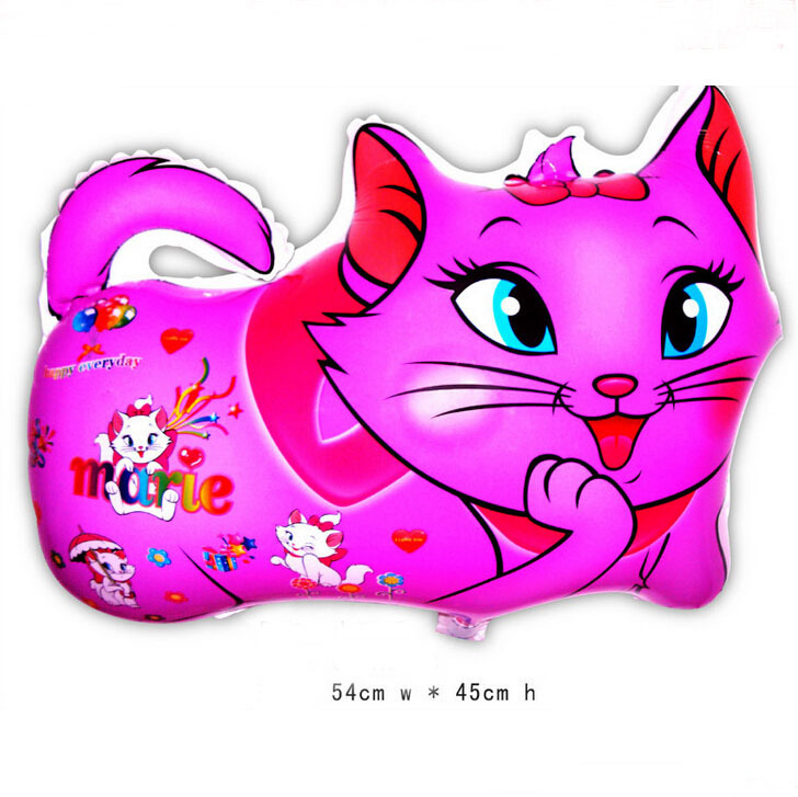 Marie Cat balloon animals inflatable air balloons for party supplies kids classic toy 54*45cm(China (Mainland))