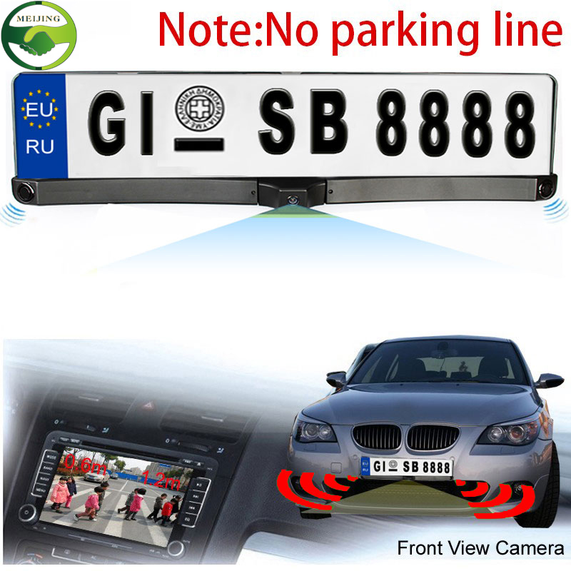 Russian European Car License Plate Frame with Rearview Camera and 2 Radar Sensors Car Parking System Kits(China (Mainland))