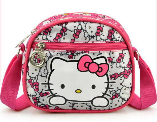 Hello Kitty Women Children Girls Leisure Satchel Cartoon Messenger Bag Mini Bags (17*15*5.5cm)(China (Mainland))