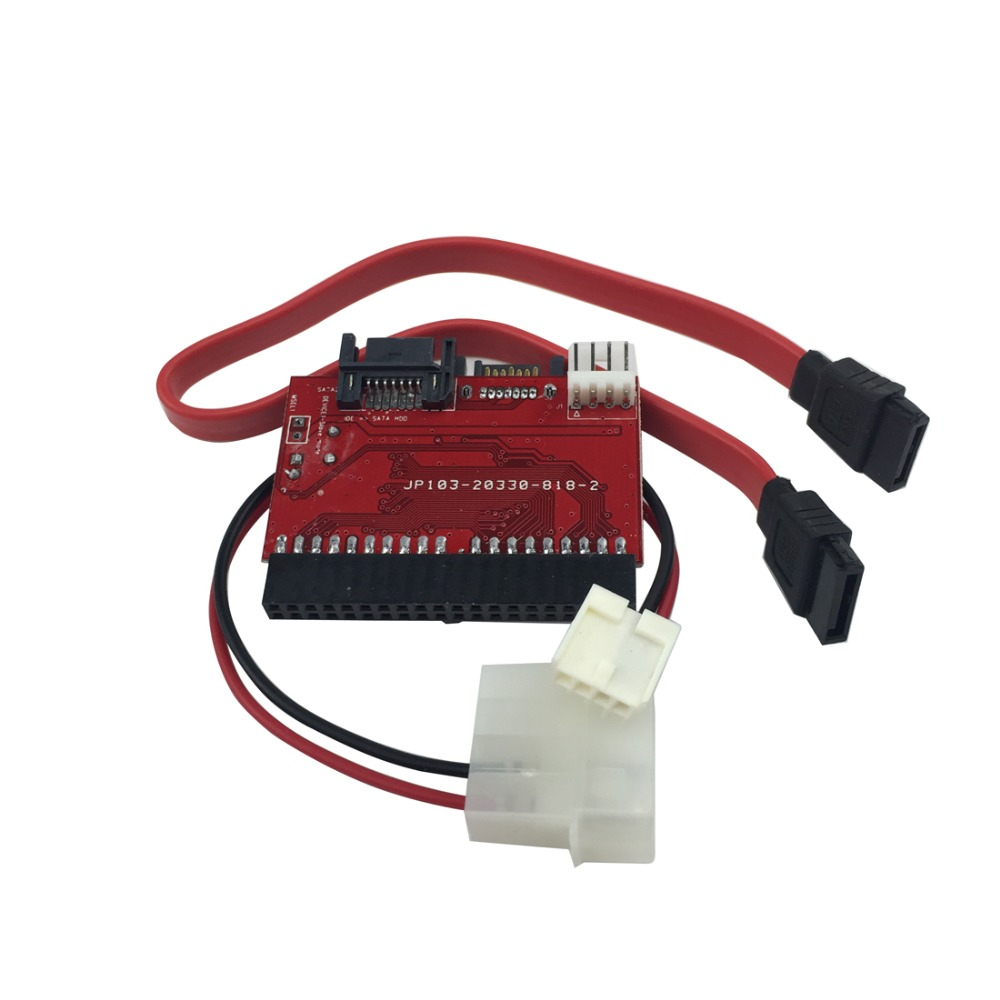 New arrival 2 in 1 SATA to IDE Adapter IDE to SATA Converter 40 pin IDE port for ATA 133 100 HDD CD DVD Adaptor(China (Mainland))
