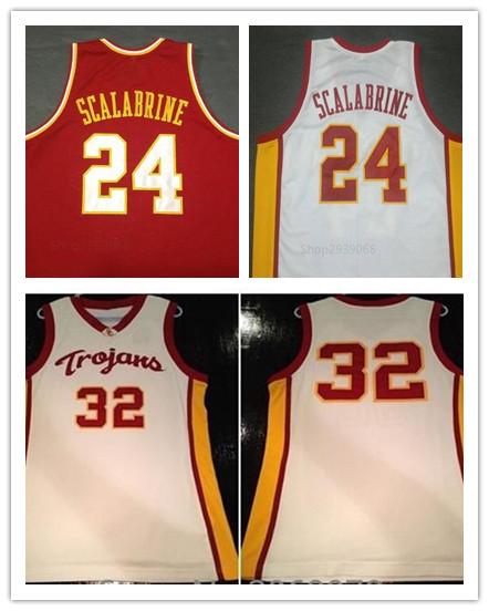 USC Trojans #32 OJ Mayo Jersey,#24 BRIAN SCALABRINE USC University of Southern California Jersey,Men Throwback College Basketba(China (Mainland))