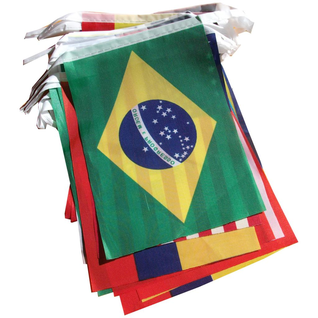 Gsfy Wholesale Brazil World Cup Fabric Bunting All 32