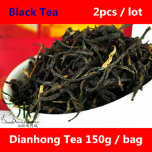 Tea / Black Tea 300g Puer Natural Fengqing Dianhong Tea, 150g * 2 Bag Dianhong Premium Hot Chinese Tea Health Care Set Products(China (Mainland))