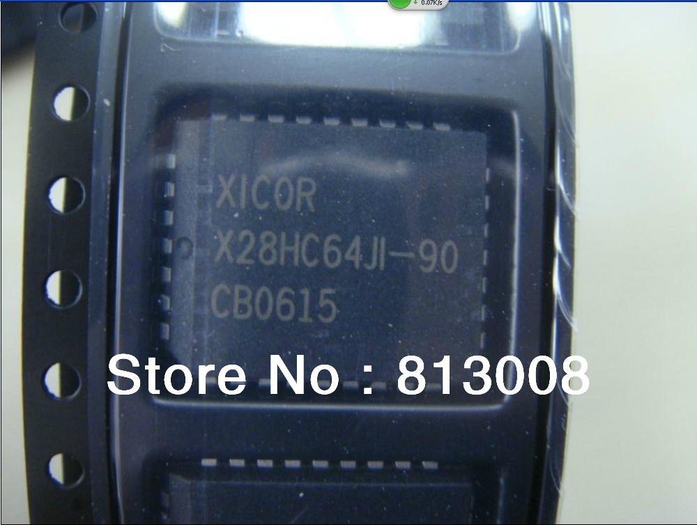 X28HC64JI-90 PLCC32 EEPROM PARALLEL 64KBIT 8KX8 5V 100% New Original Genuine Intersil Corporation stock Emax Free Ship 5PCS(China (Mainland))