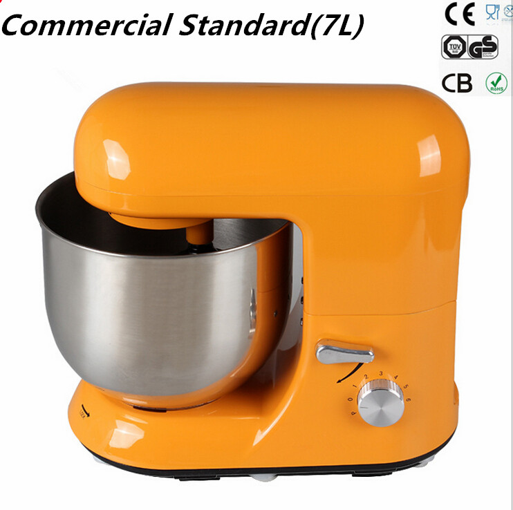 7L Commercial Used Professional stand food mixer Aluminum die-cast with UV coating electric bread dough stand mixer blender(China (Mainland))