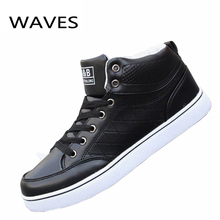 Fashion New Winter Men Shoes Front Lace-Up Casual Ankle Boots Autumn Sport Brand Men Shoes High Top Flat Shoes Discount(China (Mainland))