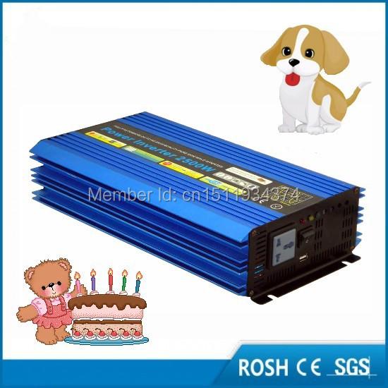 2500W Power Inverter Pure Sine Wave DC 12V to AC 220V Peak Power 5000W Solar Power Inverter Car Converter(China (Mainland))