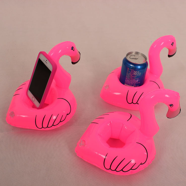 200PCS/Lot Flamingo Shape Drink Can Holder Inflatable Pool Toy Kid Party Favor Supply Gift Inflatable Swimming Pool Toy Party(China (Mainland))