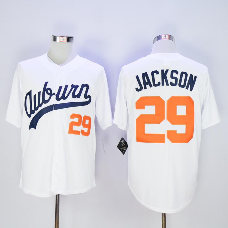 Hombres barato Retroceso jersey Blanco #29 Bo Jackson Jerseys de Béisbol de LA VENDIMIA(China (Mainland))