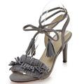 tassel high heels fine with footwear sandals Women foot ring strap suede pumps shoes woman sandalias