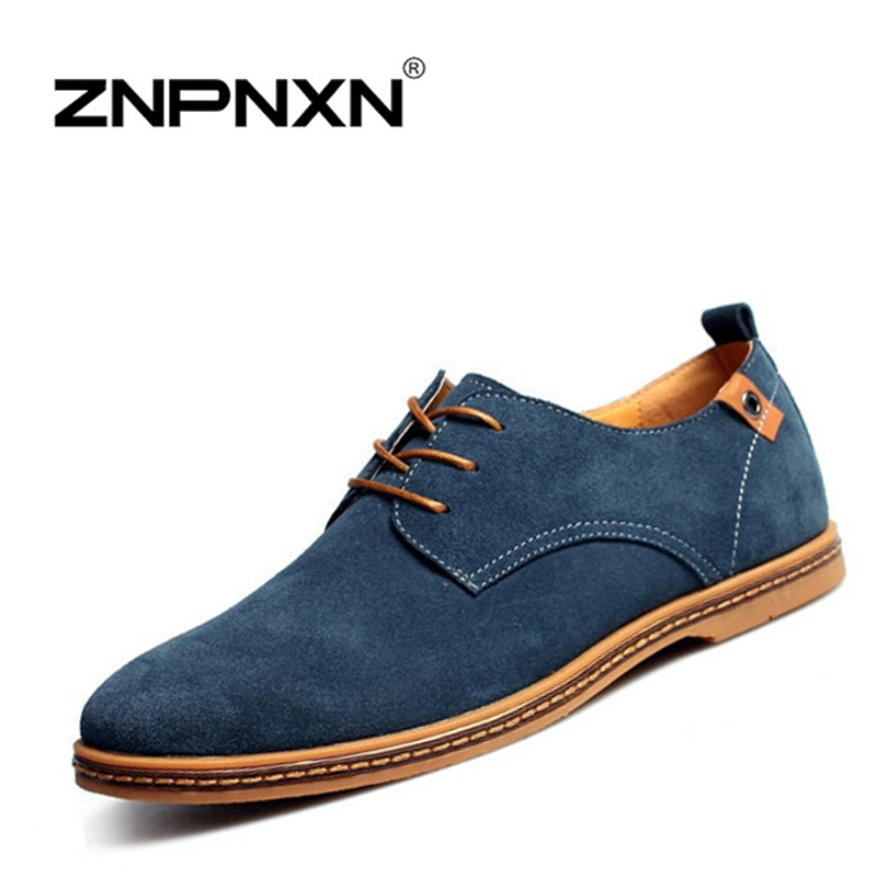ZNPNXN Men Shoes Casual Genuine Leather Flats Shoes Men Summer Cool&Winter Warm Boots For Men Oxford Shoes Big Size 38-48(China (Mainland))