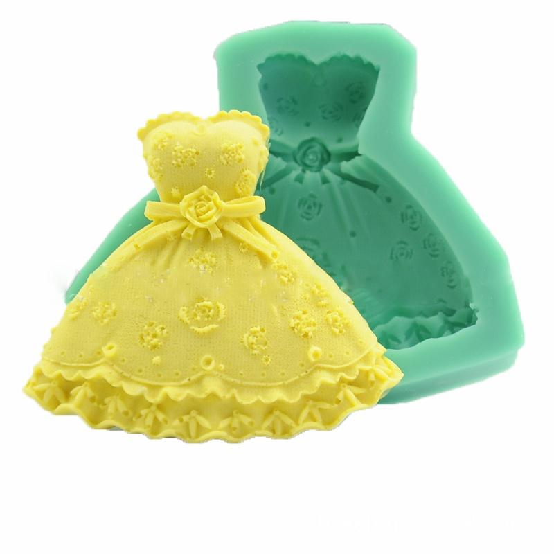 Wedding Dress Fondant Mold Silicone Cake Decorating Craft Sugar Chocolate Mould(China (Mainland))