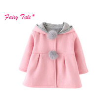 Buy Winter Warm Cute Rabbit Ear Hooded Girls Coat Kids Jacket Outerwear Children Clothing Baby Girl Coats for $10.78 in AliExpress store