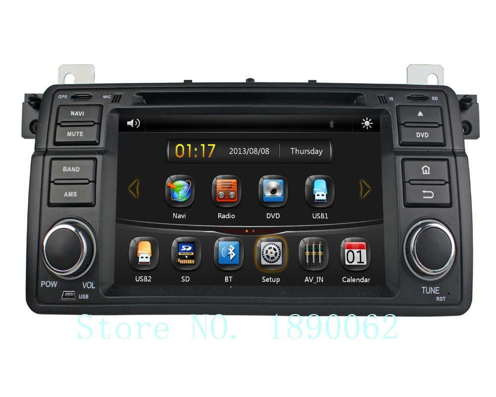 7 inch 1 din car stereo dvd player for bmw e46 m3 1998. Black Bedroom Furniture Sets. Home Design Ideas