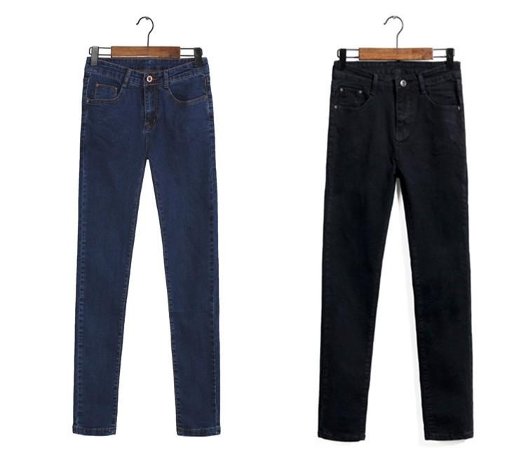Скидки на 2016 весной и летом большой размер джинсы женские брюки Корейских женщин тонкий эластичный пояс джинсы женские ноги карандаш джинсы