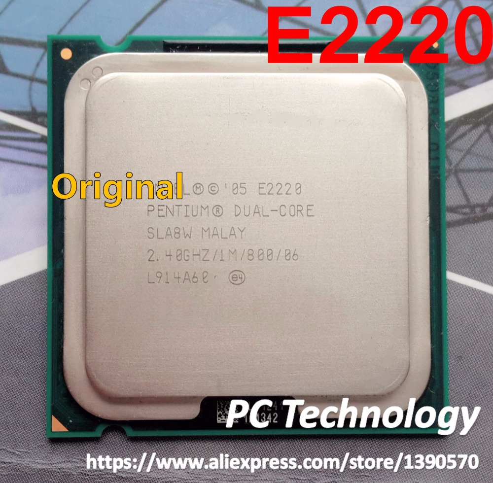 Best quality Original Pentium Dual-Core E2220 CPU Processor (1M Cache, 2.40GHz, 800 MHz FSB) Socket 775 SLA8W CPU Free shipping(China (Mainland))