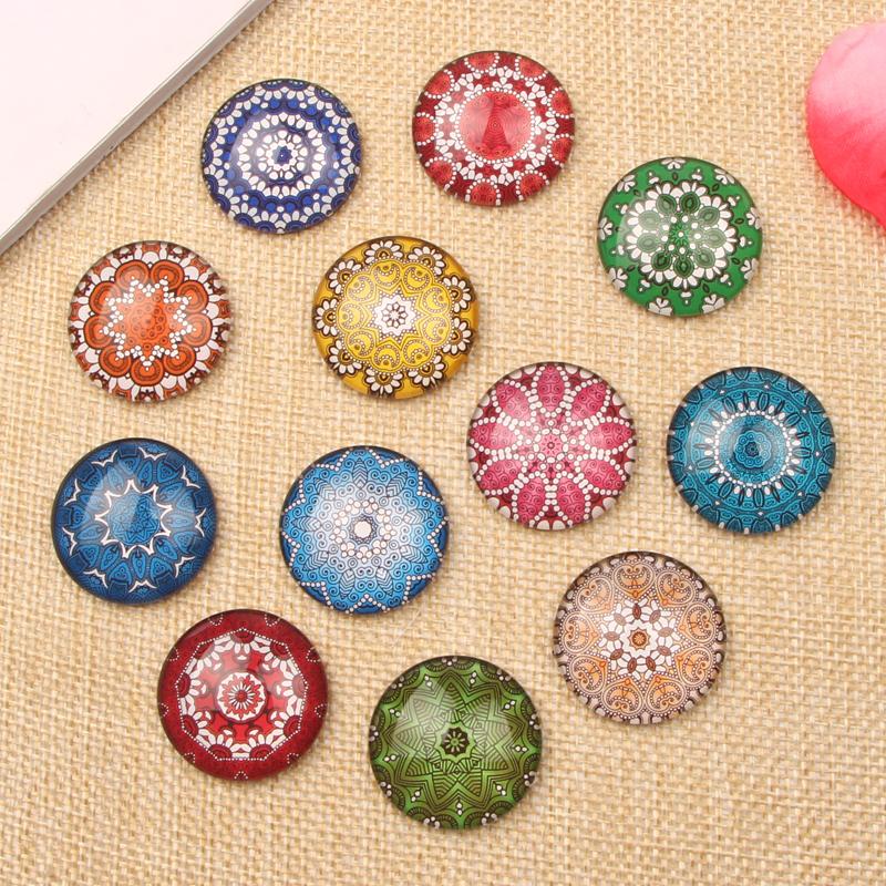 20pcs Round Dome Photo Glass Cabochon 25mm diy handmade flatback jewelry pendant cameo stone(China (Mainland))
