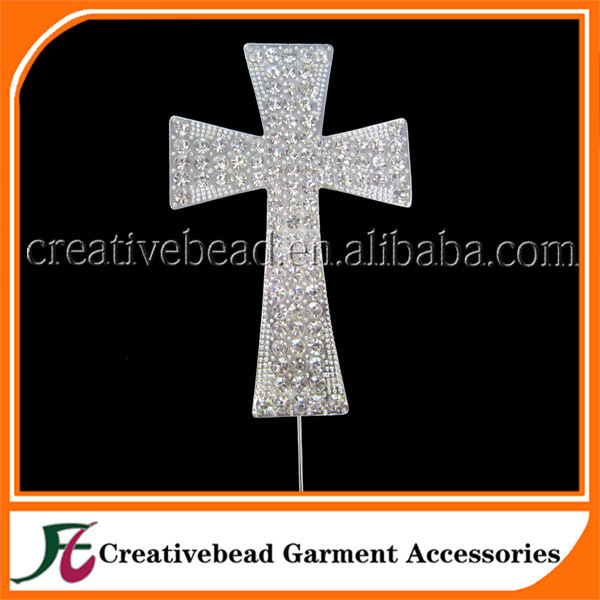 Hot sale Large Cross silver plated diamante crystal rhinestone cake topper in free shipping(China (Mainland))