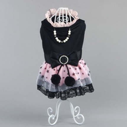 2016 New Arrival Pet Dog Cotton Fashion Butterfly Dress With Necklace Clothing For Dog Free Shipping Hot Sale(China (Mainland))