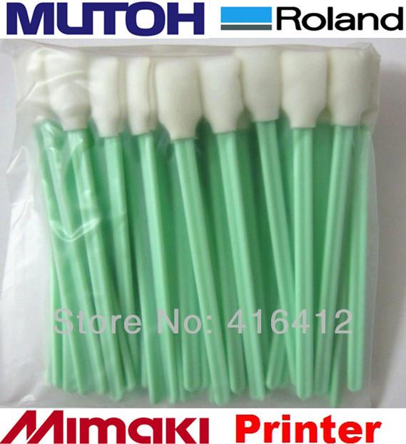 1000 pcs Lint Free Foam Cleaning Swabs for Thermal Print heads Zebra Magicard Evolis Card Printer Printhead Cleaning Swabs Kits(China (Mainland))