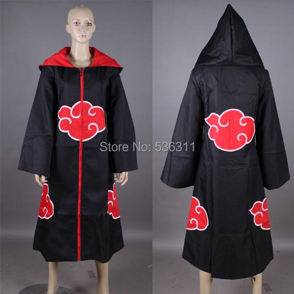 2014 halloween costumes winter coat Jacket Anime Costumes Naruto Akatsuki /Uchiha Itachi Cosplay Cloak cosplay costumes