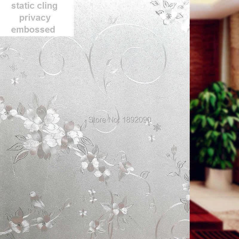2017 60*100cm Frosted Privacy Glass Window Film Static Cling Adhesive Embossed Window Sticker Home Decor PVC Bathroom HQ82