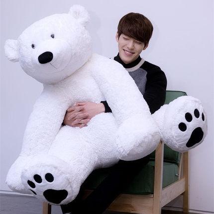 49'' / 125cm Large Giant Stuffed Plush Animal Polar Bear Stuffed Soft Plush Giant Pikachu Toy Nice Present(China (Mainland))