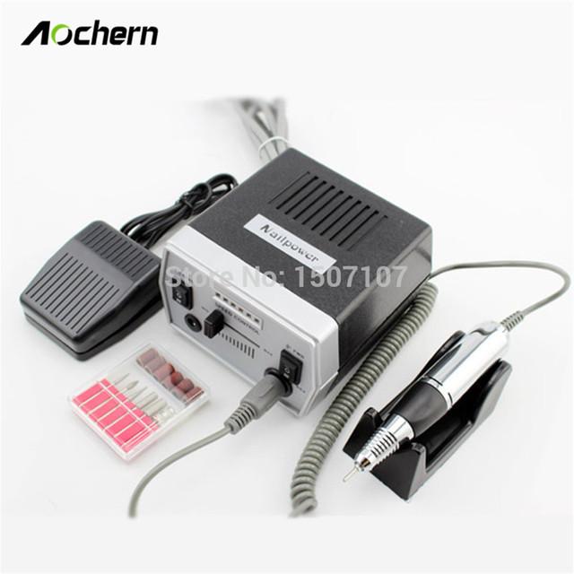 Aochern Профессиональный Электрический Ногтей Сверлильный Станок 220 В ЕС Plug Улучшенная Перегрева и Вибрации Ногтей Инструменты # C1010