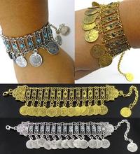 Bohemian Antalya Beads Coin Tassel Statement Bracelet Gypsy Boho Coachella Festival Turkish Jewelry Sinaya Tribal Ethnic Jewelry