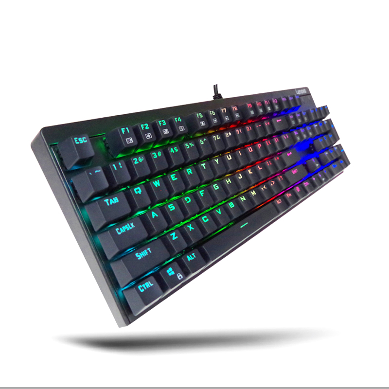 Lenovo MK300 USB green axis mechanical gaming RGB keyboard Full key conflict desktop laptop computer office<br><br>Aliexpress