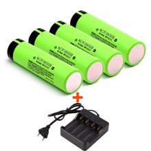 4PCS/lot Original 18650 Battery 3400mah Li-On NCR18650B Battery Rechargeable Battery With Charger For Panasonic E Cigarette(China (Mainland))