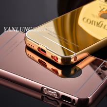 Чехол для iphone 5C высокое качество металла алюминиевая рама + акриловое зеркало задняя крышка полный защитные сумки коке для Apple , iphone 5C