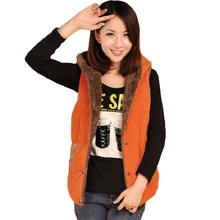 New Autumn Winter Style Women's Fashion Hooded Jacket Thick Warm Down Cotton Vest All-purpose Style Jacket