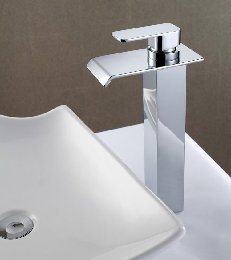 Good Quality Waterfall Bathroom Vessel Sink Faucet Deck
