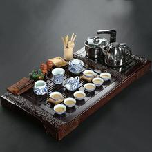 Tea set four wood tea tray cooker clouds ceramic gifts purple kung fu tea sets purple