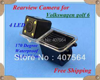 Free shipping CCD with 4LED backup Camera rearview parking for Volkswagen golf 6