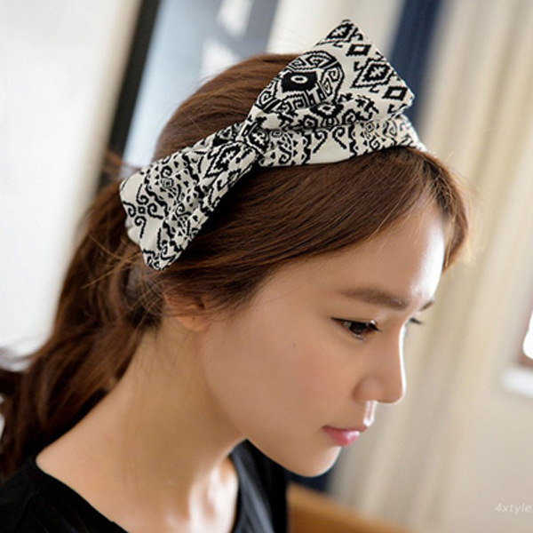 MENG Women Geometric Patterns Hair Ornaments Ethnic Style Headband Bow Hair Accessories H07041(China (Mainland))