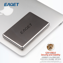 Clearence Original EAGET G50 External Hard Disk 500GB HDD 2.5 USB3.0 Stainless Steel Encryption Shockproof High-Speed Hard Disk(China (Mainland))