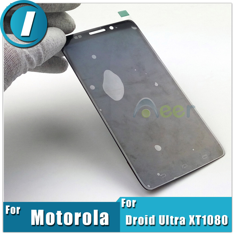 Newest Mobile Phone Lcds Display +Touch Screen Digitizer Assembly Replacement Parts For Motorola Droid Ultra XT1080 MAXX 1080M(China (Mainland))