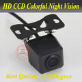 Free shipping HD Rear View CCD night vision car reverse camera auto license plate light camera
