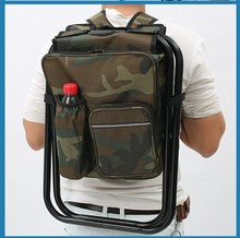 Outdoor Fishing Chair Portable Multifunctional Foldable Cooler bag Chair Backpack Fishing Stool Chair for Fishing