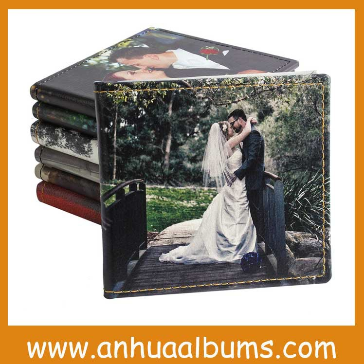 2015 new style Wedding Leather Printing Customized CD/ DVD Case for photographer and newlyweds(China (Mainland))