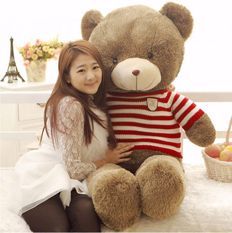 kawaii 140cm 55inch giant teddy bear plush toys stuffed ted cheap pirce gifts for kids. Black Bedroom Furniture Sets. Home Design Ideas