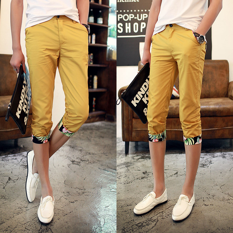 2015 Summer New Plus Size Male Casual Capris Straight Men's Calf Length Pants Mens Slim Fit Short Trousers Man - Homme Inn store
