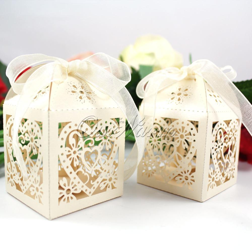 Свадебные коробочки для подарка 36