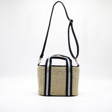 TOPHIGH новая пляжная сумка для лета большие соломенные сумки ручной работы тканая сумка для женщин Дорожные сумочки роскошные дизайнерские с...(China)